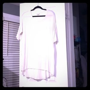 White Irma or high low tunic